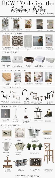 A step by step guide to creating the farmhouse kitchen of your dreams! Use this guide to creating the space you've always wanted.