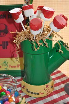 Super Mario Bros food idea... using PVC pipe is brilliant!