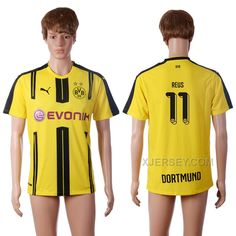 http://www.xjersey.com/201617-dortmund-11-reus-home-thailand-soccer-jersey.html 2016-17 DORTMUND 11 REUS HOME THAILAND SOCCER JERSEY Only $35.00 , Free Shipping!