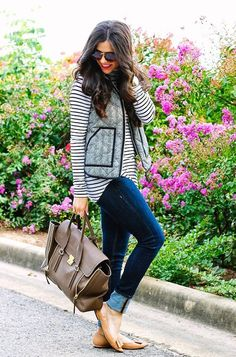LoLoBu - Women look, Fashion and Style Ideas and Inspiration, Dress and Skirt Look Vest Outfits, Casual Outfits, Cute Outfits, Shirt Outfit, Fashion Moda, Look Fashion, Fall Fashion, Fashion Trends, Fall Winter Outfits