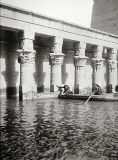Egypt, Aswan, Temple of Isis, Philae Island, between 1900-1920