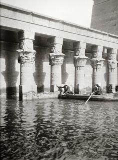 Egypt, Aswan, Temple of Isis, Philae Island, between 1900-1920