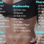 6 Weeks Home Workout Plan