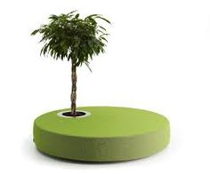 Green Islands, was designed by Jean-Marie Massaud. Find lots of elegant furniture at Offecct, the Swedish design company that loves meeting spaces! Ottoman Design, Chair Design, Furniture Design, Green Ottoman, Round Ottoman, Island Chairs, Ottoman Furniture, Library Furniture, Planter Table
