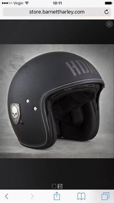 HDMC Willie G Skull Flat Black 3/4 Face Helmet