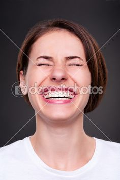 Woman is laughing loudly — Stock Image #11644110