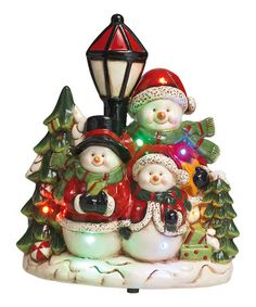 Loving this LED Snowman Family Musical Figurine on #zulily! #zulilyfinds