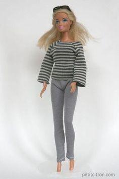 Nouveau patron pour Barbie : le sweat manches raglan | tutoriels de couture | Blog de Petit Citron
