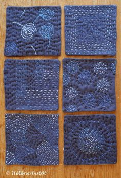 tiny blue quilts