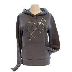 Hoodie sweater grey with sparkle print, two tone sparkle print on the front