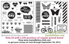 CTMH - It's Your Day Double Stamp Set