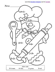 Crewel Embroidery Patterns Gingerbread Chef Color by Sum Christmas Coloring Pages, Coloring Book Pages, Coloring Pages For Kids, Crewel Embroidery, Embroidery Patterns, Embroidery Thread, Christmas Colors, Christmas Crafts, Illustration Noel