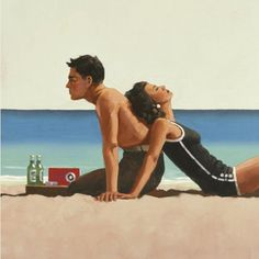 Beach Lovers - Jack Vettriano, via Luciano Olivieri Jack Vettriano, The Singing Butler, Bikini Rouge, Beach Art, Illustrations, Scotland, Pin Up, Art Gallery, Lovers