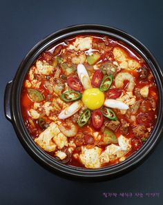 Food Design, Korean Food, Korean Recipes, Food Plating, No Cook Meals, Soups And Stews, Tofu, Food And Drink, Cooking Recipes
