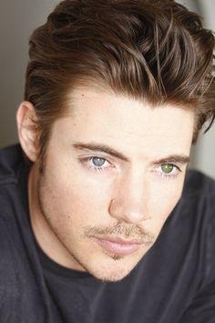 Josh Henderson (Dallas 2012) - heterochromia: one blue eye, one green