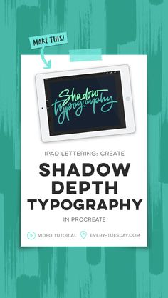 iPad Lettering tutorial: Create shadow depth typography in Procreate. Graphic Design Tips, Web Design, Happy Design, Beautiful Lettering, Lettering Tutorial, Ipad Art, Illustrator, Tuesday, How To Make