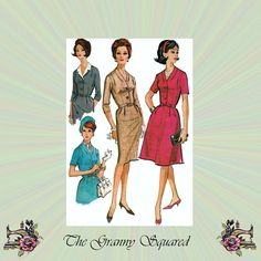 60s Dress with Detachable Collar Slim or by TheGrannySquared