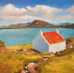 Buildings and Mountains from Will Kemp's Acrylic Landscapes course on ArtTutor.