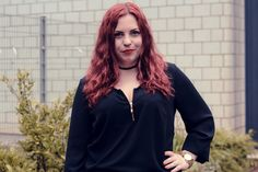 Outfit: Black and White Stripes - Curvy Sequins