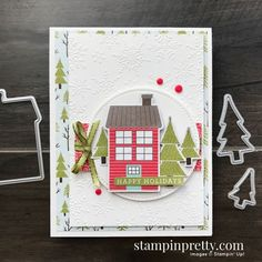 Create Christmas Cards, Holiday Cards, Mary Fish, Stampin Pretty, Christmas Catalogs, Winter Cards, Card Making Inspiration, Pretty Cards, Card Maker