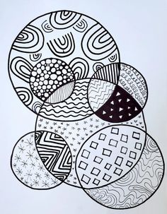 Distance Learning Art: Patterned Circles – Art is Basic | An Elementary Art Blog Circle Art, Learn Art, Landscape Art Lessons, Elementary Art Lesson Plans, Pattern Art, Trending Art, Arts Ed, Art Blog, Art Music