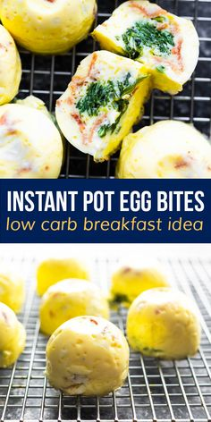 Instant Pot egg bites are soft, creamy, and easy to customize with your favorite add ins! Perfect for breakfast or meal prep, they are low carb and freezer-friendly. #sweetpeasandsaffron #eggbites #instantpot #mealprep #lowcarb #freezerfriendly #customizable Healthy Egg Breakfast, Best Breakfast Recipes, Silicone Egg Mold, Portobello Mushroom Recipes, Spiralizer Recipes, Frozen Vegetables, How To Cook Eggs, Pressure Cooking, Healthy Eats