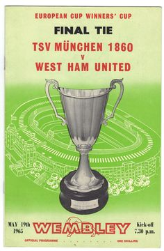 Programme for the 1965 European Cup Winners' Cup final at Wembley between TSV Munich 1860 and West Ham United