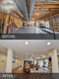 Before After Finished Basement Projects On Pinterest