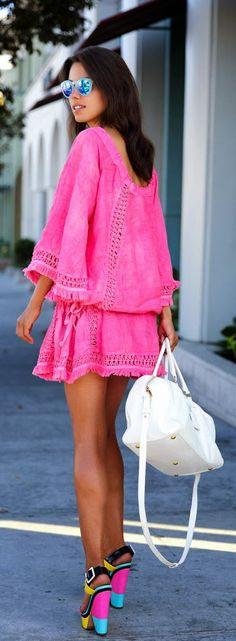 Daily New Fashion : Tropez Linen Antalia Dress