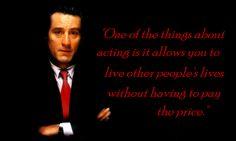 acting. Robert Deniro