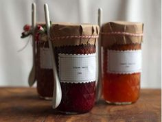 decorate jam jars to give as gifts