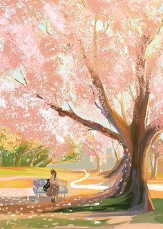 Illustration by ✨ art, horror, (s)exploitation, cinema - Maybe NSFW. Art And Illustration, Illustrations, Fantasy Kunst, Fantasy Art, Aesthetic Art, Aesthetic Anime, Art Asiatique, Anime Scenery Wallpaper, Anime Art Girl