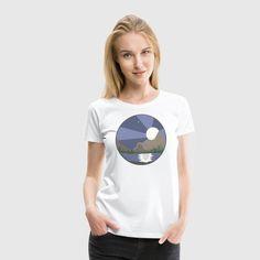 Nattelandskab - Dame premium T-shirt