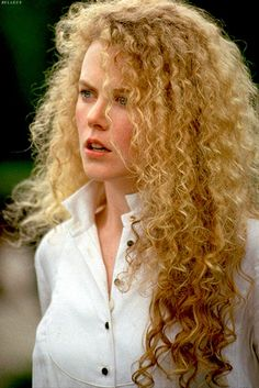 long curly 90s hair