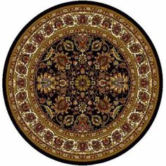 Home Dynamix Royalty Collection Area Rug, Black