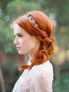 Bold red hair: http://www.stylemepretty.com/vault/search/images/Hairstyles