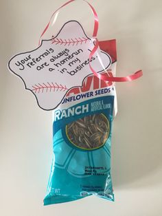 Baseball themed Realtor pop-bys by MakeMeSmileMarketing on Etsy