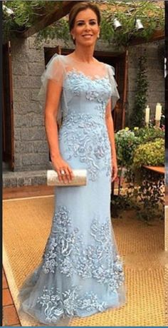 ce42dbe25eb1 Sheath Mother Of Bridal Dresses Lace Appliques Evening Prom Gown Custom Size  Mother Dress