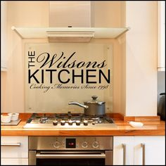 wall decals | Personalised Kitchen ~ Wall sticker / decals