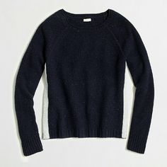 J.Crew Donegal Sweater with Shimmer Stripes Navy sweater with silver shimmer stripes.  Brand new with tags.  Size XS J. Crew Sweaters
