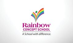 International school logo design bangalore, Branding Agency bangalore rainbow