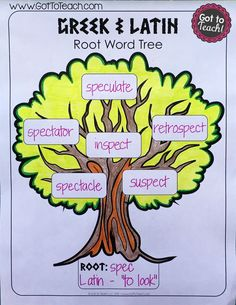 Greek and Latin Root Word Tree, and several other free vocabulary activities.