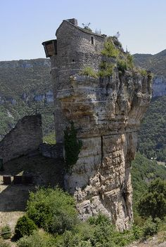 The summit of Castle Peyrelade  By DiAPh78  Aveyron, France
