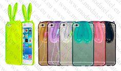Apple iPhone 6 4.7 inch (калъф ТПУ) 'Bunny style' Изработено от висококачествени, термопластични полиуретани (съкратено ТПУ).  Материалът е с много полезни свойства, включително еластичност, прозрачност и устойчивост на масла, мазнини и износване.  Запазва характеристиките си при ниски температури.   Лесен за поставяне, с висока експлоатационна