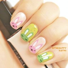 $0.57 Nail Art Water Decals Transfers Sticker Cute Rabbit Pattern k154 - BornPrettyStore.com