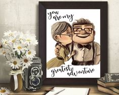 Disney Movie Up, Cute Disney, Disney Theme, Ellie And Carl, Up Pixar, New Toy Story, Halloween Poster, Cat Posters, Messages