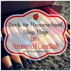 Back to Homeschool Blog Hop: Homeschool Essentials #homeschool