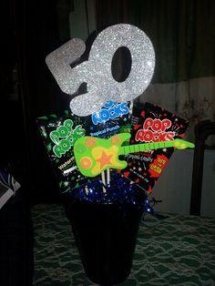 """50 Rocks"" centerpiece for my Dad's 50th birthday (2014)"