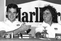 Ayrton Senna y Alain Prost, durante su etapa en McLaren en la que saltaron chispas.