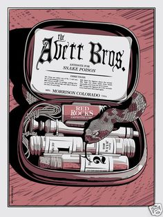 The Avett Brothers Poster Red Rocks Night 2 July 6th 2013 s N Edition of 300 | eBay I was there!